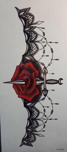 This would make a badass garter tattoo