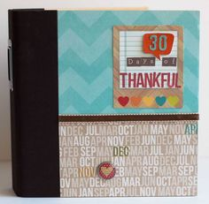 a Simple 30 Days of Thankful Mini Album - Simple Stories