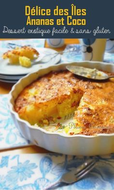 Délice des îles ananas et coco Here is a super easy, gluten-free exotic recipe. This pineapple and coconut delicacy is simply delicious, a kind of gluten-free, light, light crumble cake … Healthy Christmas Recipes, Christmas Desserts, Crockpot Recipes Cheap, Cooking Recipes, Easy Summer Desserts, Summer Food, Chefs, Exotic Food, Cheap Meals
