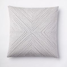 Pillow pattern with a striped, no-stretch, tightly woven fabric: X-shaped on one side, diamond-shaped on the other.
