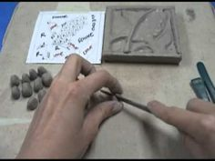 Here is how to make a clay tile using carving, subtractive and additive methods