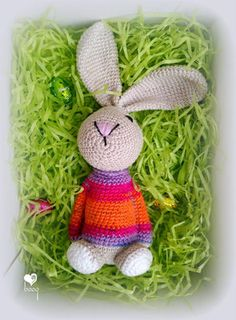 Facebook Sign Up, Bunny, Christmas Ornaments, Holiday Decor, Crochet, Free, Amigurumi, Cute Bunny, Christmas Jewelry