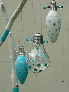 Glühbirnen zu Baumschmuck! - Handmade Kultur