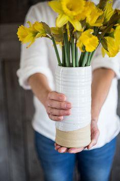 Farmhouse Pottery Trunk Vase | www.bowlandpitcher.com