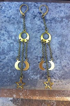 GALAXY //  Petite Moon and Star Pendants on by ShopParadigm, $29.00