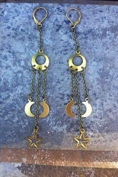 GALAXY //  Petite Moon and Star Pendants on by ShopParadigm, $29.00