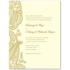 Paisley Bliss Wedding Cards: WPD