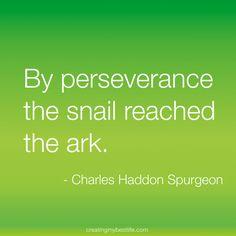 perseverance - Charles Spurgeon