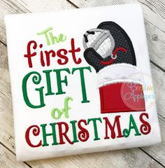 The First Gift of Christmas Applique embroidery design