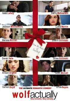 """Alternative Poster for: """"Love Actually"""" but Teen Wolf version Melissa Mccall, Scott Mccall, Stydia, Sterek, Teen Wolf Merch, Teen Wolf Outfits, Allison Argent, Teen Wolf Cast, Derek Hale"""
