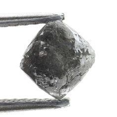1.32 CARAT ROUGH DIAMOND OUT FROM DIAMOND MINES Silver Grayish NATURAL  DIAMOND