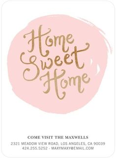 Sweet Retreat - Moving Announcements - Chewing the Cud - Tea Rose - Pink | www.TinyPrints.com