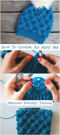 How To Crochet An Easy Hat Beginner Friendly Tutorial - Crochetopedia S. How To Crochet An Easy Hat Beginner Friendly Tutorial – Crochetopedia Sie Kleidung Tutor Easy Crochet Hat, Crochet Cap, Wire Crochet, Crochet Beanie, Crochet Crafts, Crocheted Hats, Crochet Hat For Beginners, Beginner Crochet Projects, Crochet Clothes