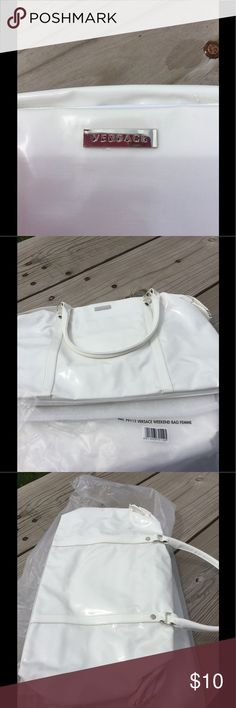 Nwt, large shiny white Versace weekender bags New in pakaging. Large weekend bags! Versace Bags Totes