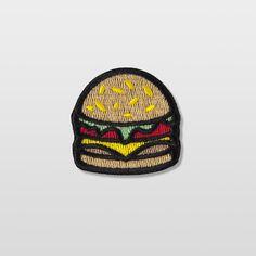 "Les écussons du futur ""Burger 100% Made in France"" by Bernard Forever http://www.bernardforever.fr/collections/ecussons"