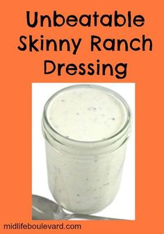Thanks Midlife Boulevard for sharing my Skinny Ranch Dressing Recipe. Made with just 3 ingredients! Each 2 T serving has 30 calories, 2g fat and 1 Weight Watchers POINTS PLUS. Get the recipe: http://midlifeboulevard.com/unbeatable-skinny-ranch-dressing-recipe/