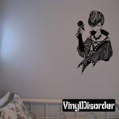 Female Anime Wall Decal - Vinyl Decal - Car Decal - DC 23011