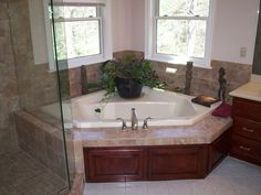 Small Master Bath Remodel Ideas | The Corner Tub Is The Center Of The New  Master Bathroom Design. | Bathroom Ideas | Pinterest | Corner Tub, Tubs And  Master ...