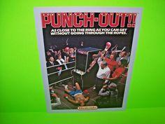 Nintendo PUNCH OUT 1984 Original Vintage Arcade Game Promo Sales Flyer Scarce #NintendoPunchOut
