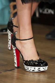 Marchesa platform heels at London Fashion Week, Spring 2015