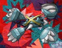Mega Metagross by Macuarrorro.deviantart.com on @DeviantArt. #Pokemon #MegaMetagross #fanart