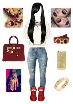 """Untitled #115"" by luviannie ❤ liked on Polyvore featuring Hermès, Faith Connexion, Topshop, BUSCEMI, Cartier and Salvatore Ferragamo"