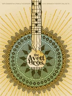wow. love this poster for the avett brothers.