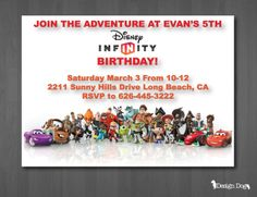 Disney Infinity Birthday Invitation by TheDesignDog on Etsy, $9.99