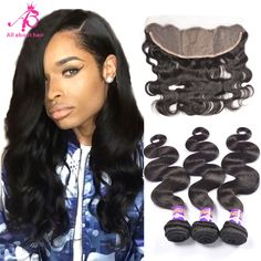 360 lace frontal install sew in Deep Wave Brazilian Hair, Brazilian Curly Hair, Weave Hairstyles, Straight Hairstyles, Lace Frontal, Human Hair Extensions, Wavy Hair, Hair Looks, Curly Hair Styles