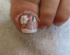 Feet Nail Design, New Nail Art Design, Pedicure Designs, Toe Nail Designs, Feet Nails, Toe Nail Art, Nail Decorations, French Nails, Nail Arts