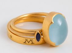 Favorite #52 is a stacking set by Gabriella Kiss. This set is made if 22k gold, sapphire and aquamarine, and is made so beautifully. I would so love to wear it each and everyday.