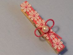 Shabby Chic Decorative Clothes Pins Banner Office by StuffDepot