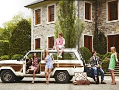 lilly pulitzer and madras, the classics like a jeep waggoneer for your hamptons weekend or spring break prep retreat. I wish.