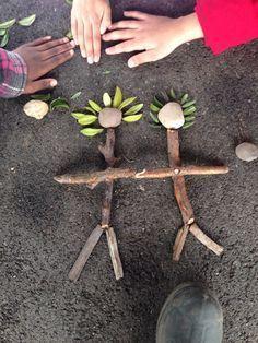 Stick Man making in Forest School.