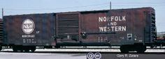NW, Norfolk and Western 60' Single Door Boxcar, 50665 May 15th, 1991, Toronto, Ontario