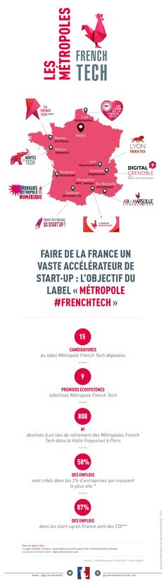 #Infographie : Annonce des 9 premières métropoles labellisées FrenchTech - Maddyness Marketing Data, Sales And Marketing, Économie Collaborative, Great Place To Work, Sharing Economy, Tech, Teaching French, Management Company, Learn French