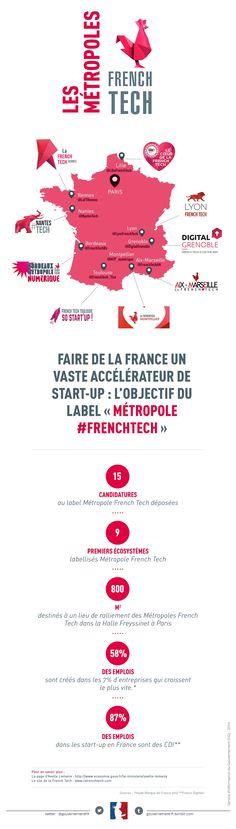 #Infographie : Annonce des 9 premières métropoles labellisées FrenchTech - Maddyness