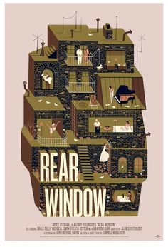 Rear Window (1954) ~ Alternative Movie Poster by Adam Simpson #amusementphile