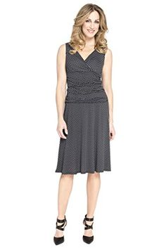 Rekucci Women's Slimming Sleeveless Fit-and-Flare Crossover Tummy Control Dress (4,Black/White) Rekucci http://www.amazon.com/dp/B00JNUJH5W/ref=cm_sw_r_pi_dp_oD9pvb1G14E9S