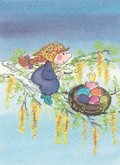 Virpi Pekkala April Easter, Happy Easter, Whimsical Art, Easter Eggs, Illustration Art, Finland, Scandinavian, Artist, Prints