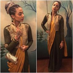 Bani J. Team her up with Ranveer Singh, all sorts of sartorial awesomeness! Most Beautiful Dresses, Beautiful Women, Bani Judge, Mandana Karimi, Ranveer Singh, Every Girl, Indian Dresses, Sari, Fashion Outfits