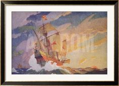 Columbus Crossing the Atlantic, 1927 Framed Giclee Print by Newell Convers Wyeth at Art.co.uk
