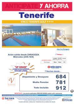 Tenerife -Anticípate y Ahorra- Hotel Vincci Tenerife Golf, salidas desde Zaragoza ultimo minuto - http://zocotours.com/tenerife-anticipate-y-ahorra-hotel-vincci-tenerife-golf-salidas-desde-zaragoza-ultimo-minuto/