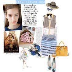 """LeBunny Bleu - Blue Lilly Ballet Flats"" by lebunnybleu on Polyvore"