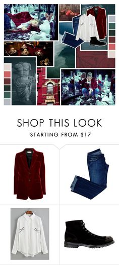 """""""BTS WINGS~ Namjoon"""" by fantasy-lover-0719 ❤ liked on Polyvore featuring Reception, Andrew Martin, Murdock London, Yves Saint Laurent, Dsquared2 and Santi"""