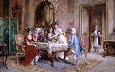 Persoglia, Franz von (b,1852)- Afternoon Tea