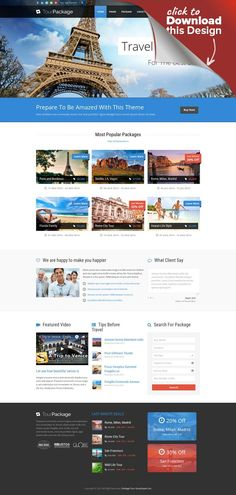 Tour Package - Wordpress Travel/Tour Theme beach, family, fun, holiday, island, package, park, plane, responsive, retina, retina ready, sea, tour, travel, trip Tour Package is a Wordpress Theme especially for travel company. It comes with package post type which allow you to feature all packages for your customers to easily browse on. Also comes with booking form(Contact form 7 required) and package filtering system. In addition, this theme i...