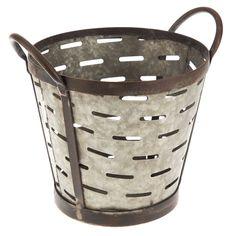 Metal Olive Bucket from Hobby Lobby