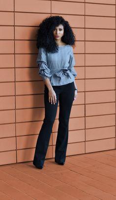 3bde74b35def 8 Best Black slacks outfit images | Business wear, Court attire ...