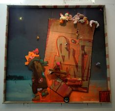 Sainer : Santa On The Way mixed media 3,5 x 3,3 m. , work prepared for LAC Lagos, Portugal 2012